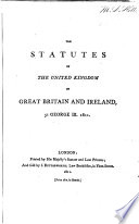 Statutes at Large ...: (29 v. in 32) Statutes or the United Kingdom, 1801-1806; [1807-1832