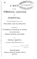 A Key to the Symbolical Language of Scripture