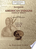 Handbook Of American Indians North Of Mexico Volume 2 4 H M