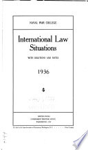 International Law Situations With Solutions And Notes 1936