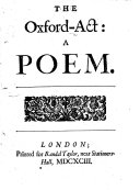 The Oxford-act: a poem [by A. D'Anvers].