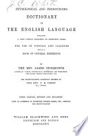 Etymological and Pronouncing Dictionary of the English Language Book