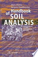 Handbook of Soil Analysis Book