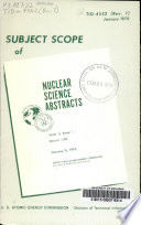 Subject Scope and Literature Coverage of Nuclear Science Abstracts