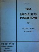 Specialist S Suggestions For County Plan Of Work