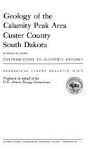 Pdf Geology of the Calamity Peak Area Custer County South Dakota