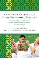 Creating a Culture for High Performing Schools