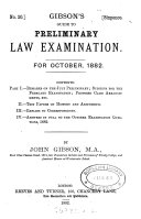 Gibson S Guide To Preliminary Law Examination By J And A Gibson