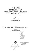 The 1945 Manchester Pan African Congress Revisited