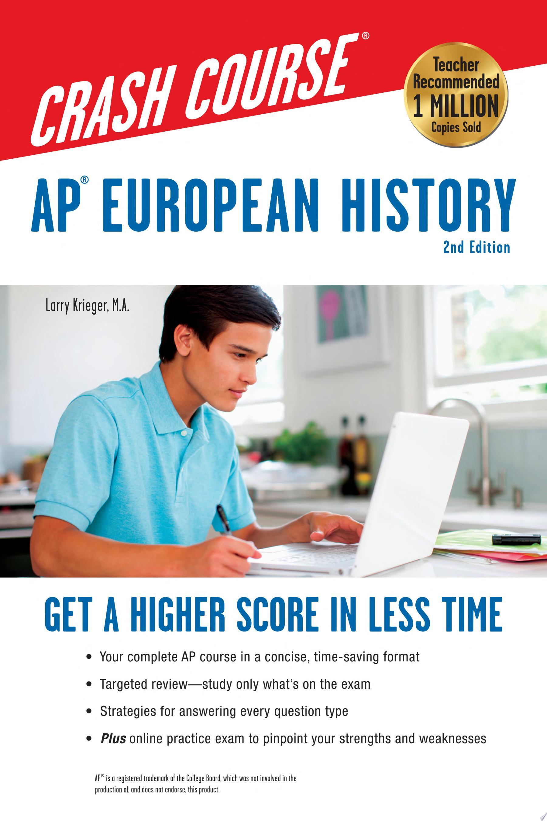 AP   European History Crash Course  2nd Ed   Book   Online