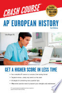 AP   European History Crash Course  2nd Ed   Book   Online