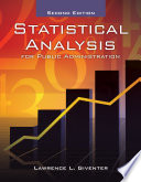 Statistical Analysis For Public Administration