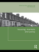 Housing  Markets and Policy