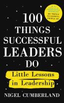 100 Things Successful Leaders Do Pdf/ePub eBook