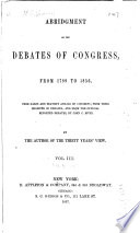 Abridgment Of The Debates Of Congress From 1789 To 1856 Oct 17 1803 April 25 1808