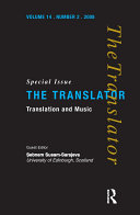Translation and Music [Pdf/ePub] eBook