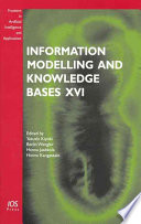 Information Modelling And Knowledge Bases Xvi Book PDF