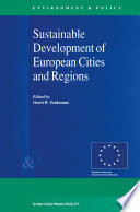 Sustainable Development Of European Cities And Regions Book PDF