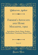 Farmer S Advocate And Home Magazine 1902 Vol 37