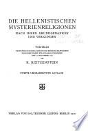 Die Hellenistischen Mysterienreligionen