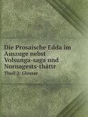 Pdf Die Prosaische Edda im Auszuge nebst Volsunga-saga und Nornagests-th?ttr Telecharger