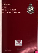 Journal of the Royal Army Medical Corps Book