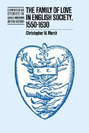 The Family of Love in English Society  1550 1630