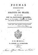 Poemas oferecidos aos amantes do Brazil por seu autor Jozé da Natividade Saldanha ebook