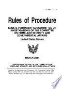 Rules of Procedure, S. Prt. 112-12, March 2011*