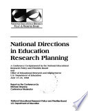National Directions in Education Research Planning