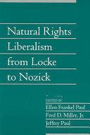 Natural Rights Liberalism from Locke to Nozick  Volume 22  Part 1