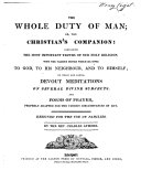 The Whole Duty of Man, Or, The Christian's Companion