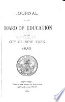 Journal Of The Board Of Education Of The City Of New York