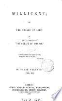 Millicent  or  The trials of life  by the author of  The curate of Overton   Book