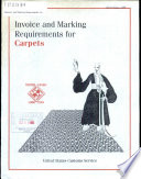 Invoice and marking requirements for carpets