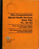 Ohio Comprehensive Mental Health Services State Plan Book