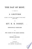 The Day Of Rest A Lecture On Gen Ii 2 3 Second Edition