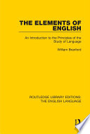 The Elements of English