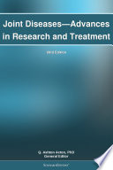 Joint Diseases Advances In Research And Treatment 2012 Edition