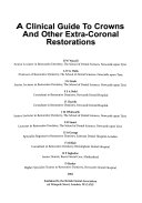 Cover of Clinical Guide to Crowns and Other Extra-Coronal Restorations