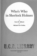 Who s who in Sherlock Holmes Book