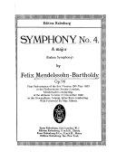 Symphony No  4  A Major