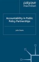 Accountability in Public Policy Partnerships Pdf/ePub eBook