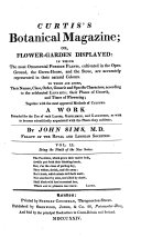 The Botanical Magazine  Or  Flower Garden Displayed Etc