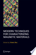 Modern Techniques For Characterizing Magnetic Materials Book PDF
