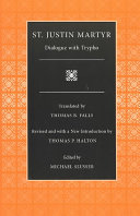 Dialogue With Trypho Selections From The Fathers Of The Church Volume 3
