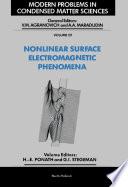 Nonlinear Surface Electromagnetic Phenomena