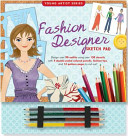 Fashion Designer Sketch Pad  With 4 Colored Pencils