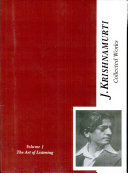 The Collected Works Of J. Krishnamurti (Vol - I) Art Of Listening