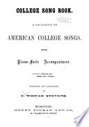 College Song Book